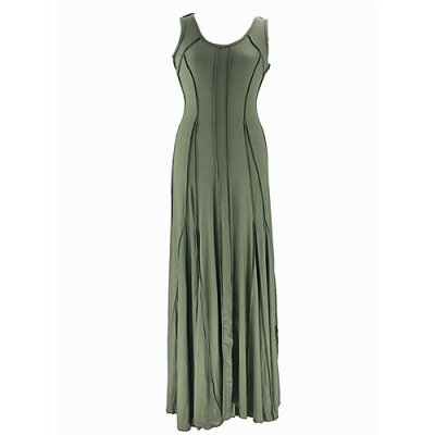 Women basic swing dress, solid color Ruching
